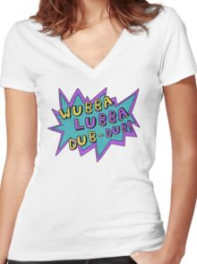 Wubba Lubba Dub-Dub! Women's Fitted V-Neck T-Shirt