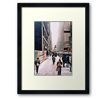 Broadway and 42nd Street 1985 Framed Print
