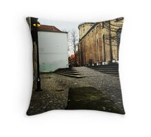 Twilight Lamppost  Throw Pillow
