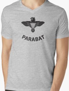 Parabat T-Shirt (Black) Mens V-Neck T-Shirt