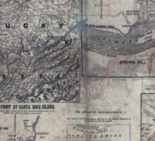 Civil War Maps 1907 War maps and diagrams Sticker