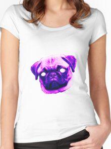 Demonic Pug  Women's Fitted Scoop T-Shirt