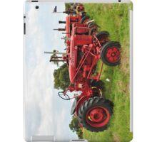 Row of Tractors iPad Case/Skin