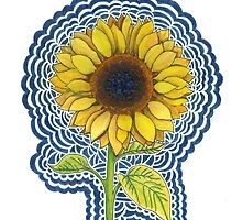 Sunflower Drawing Meditation by kpdesign