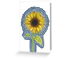 Sunflower Drawing Meditation Greeting Card
