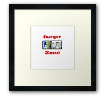 Burger Zone Framed Print