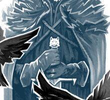 Wolf And Ravens Sticker