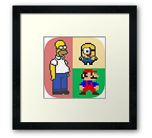 Iconic Cartoons! Framed Print