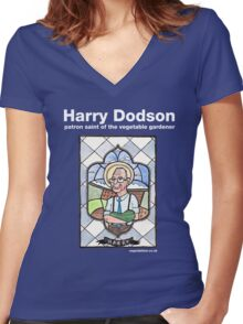 Harry Dodson top Women's Fitted V-Neck T-Shirt