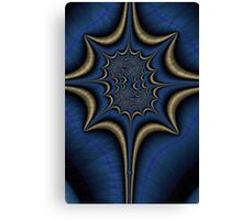 Blue and Gold Abstract Canvas Print