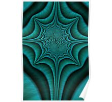 Green Malachite Abstract Poster