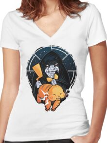 Force Poke Women's Fitted V-Neck T-Shirt