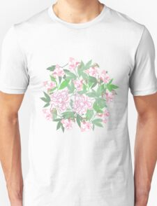 Flowers  and Pink Peonies T-Shirt