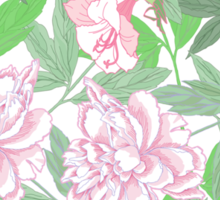 Flowers  and Pink Peonies Sticker