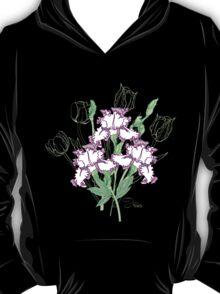 White Blue Irises and Tulips T-Shirt