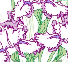 White Blue Irises and Tulips Sticker