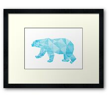Geometric Ice Bear Framed Print