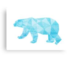 Geometric Ice Bear Canvas Print