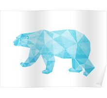 Geometric Ice Bear Poster