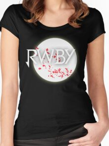 RWBY red moon blossoms Women's Fitted Scoop T-Shirt