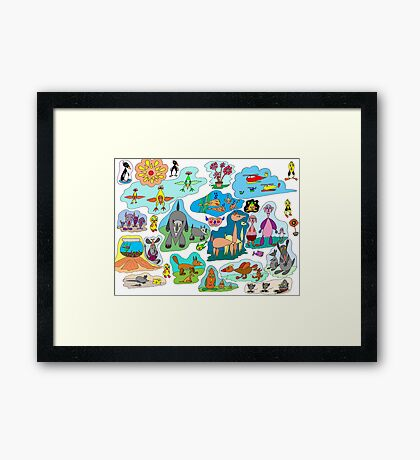 Tear-drop creations for children Framed Print
