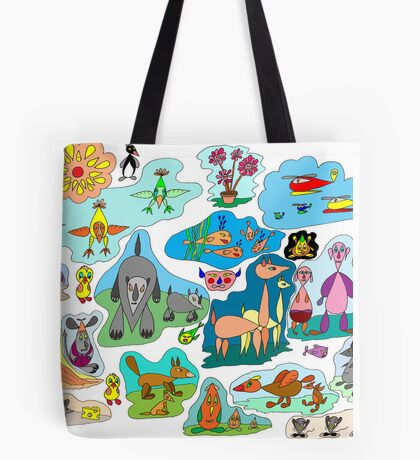 Tear-drop creations for children Tote Bag