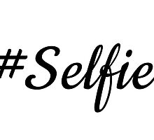 Hash tag selfie, word art, text design by beakraus