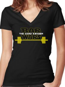 Star Wars - The Gains Awaken Women's Fitted V-Neck T-Shirt