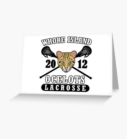 Go Ocelots! (Black Fill) Greeting Card