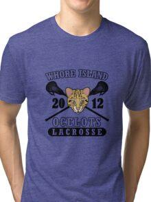 Go Ocelots! (Black Fill) Tri-blend T-Shirt