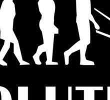 Skiing Evolution Sticker