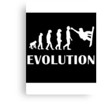 Snowboarding Evolution Canvas Print