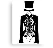 black rose ghost Canvas Print