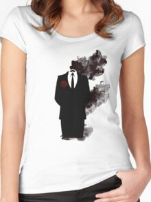 Black smoke  Women's Fitted Scoop T-Shirt
