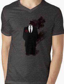 Black smoke  Mens V-Neck T-Shirt