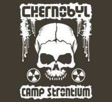 Chernobyl Strontium Skull T-Shirt by TropicalToad