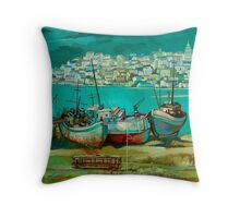 Old District Throw Pillow