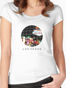GridFashion Las Vegas Style Women's Fitted Scoop T-Shirt