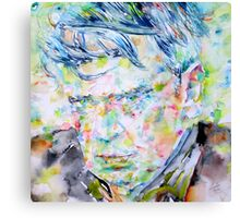 ANTHONY BURGESS - watercolor portrait Canvas Print