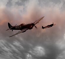 Spitfires Nightfall by J Biggadike