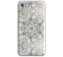 Beige ornament iPhone Case/Skin
