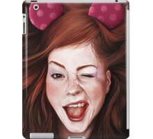Wink girl iPad Case/Skin