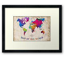 WATERCOLOR MAP  Framed Print