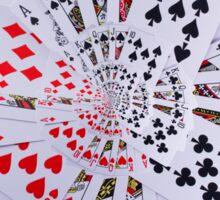 Poker Royal Flush All Suits Droste Spiral Sticker