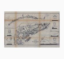 Civil War Maps 0290 Coast of South Carolina from Charleston to Hilton Head One Piece - Long Sleeve