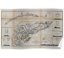 Civil War Maps 0290 Coast of South Carolina from Charleston to Hilton Head Poster