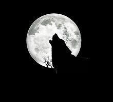 Wolf Moon Phone Case by Moosetacular