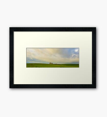 Green hills Framed Print