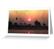 Retro Sunrise Greeting Card