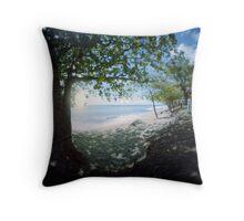 Beach at Rincon, Puerto Rico Throw Pillow
